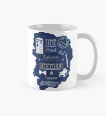 Time and relative dimension in space Mug