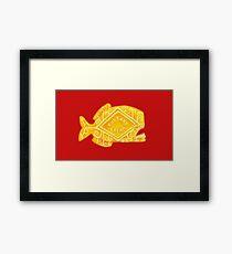 beware the custard cream piranhas Framed Print