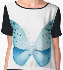 MISS BUTTERFLY EUPLOEA X-RAY White Edition Women's Chiffon Top