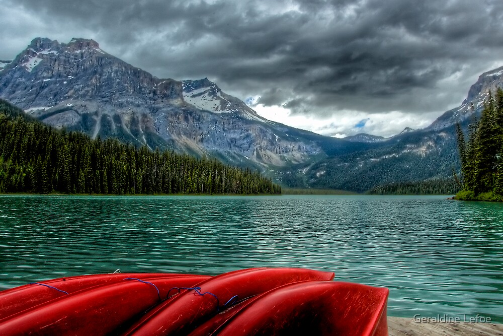 Emerald Lake, Yoho National Park, Canada by Geraldine Lefoe