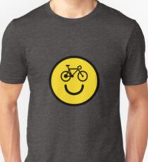 I Love Cycling - Smiley Emoji - Happy Bike Face Unisex T-Shirt