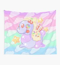 Pastel Candy Gummy Worm Wall Tapestry