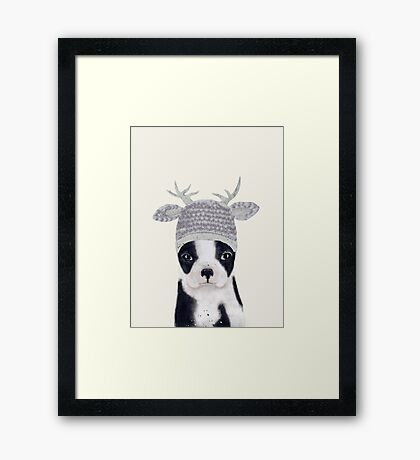 little boston ooh deer Framed Print