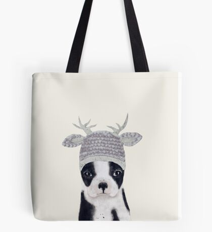 little boston ooh deer Tote Bag