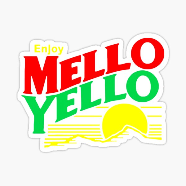 Coca-Cola Vintage Decal Mello Yellow