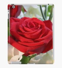 Red Rose with Garden Background iPad Case/Skin