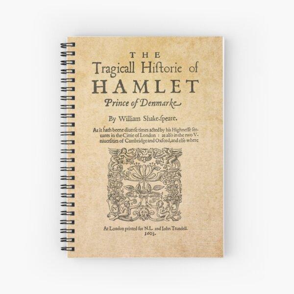 Shakespeare, Hamlet 1603 Cuaderno de espiral