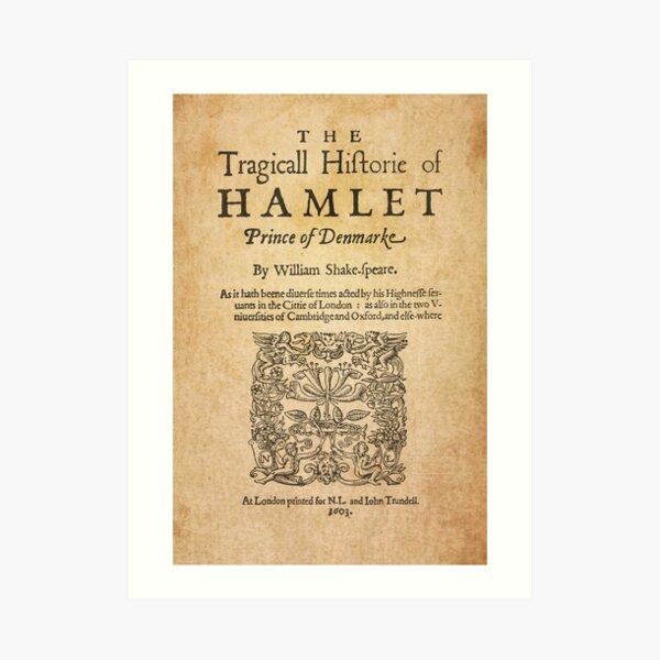 Shakespeare, Hamlet 1603 Lámina artística