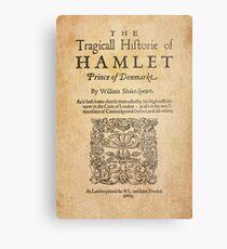Shakespeare, Hamlet 1603 Metal Print