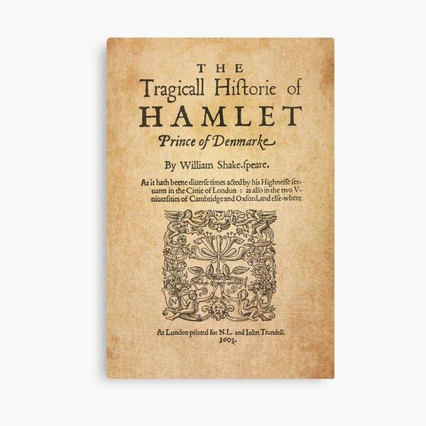 Shakespeare, Hamlet 1603 Lienzo