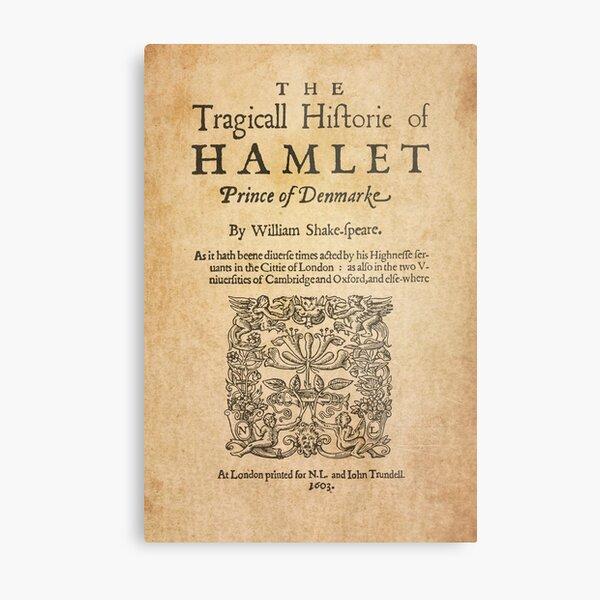 Shakespeare, Hamlet 1603 Lámina metálica