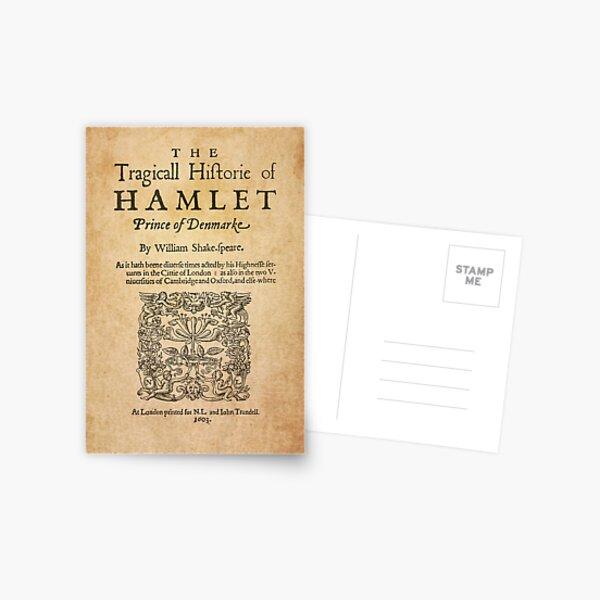 Shakespeare, Hamlet 1603 Postal