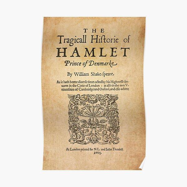 Shakespeare, Hamlet 1603 Póster
