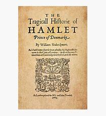 Shakespeare, Hamlet 1603 Photographic Print