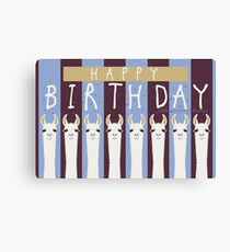 HAPPY BIRTHDAY LLAMAS Canvas Print