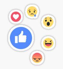 facebook stickers redbubble