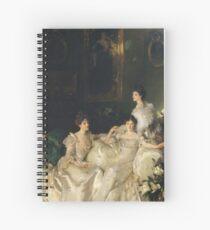 John Singer Sargent - The Wyndham Sisters Spiral Notebook