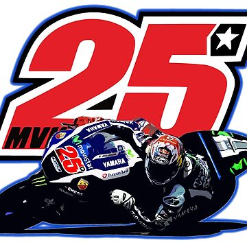 Maverick Vinales on his motogp motorbike white by ideasfinder