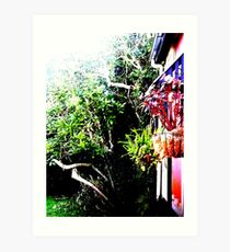 Cottage in The Woods (bright) Art Print