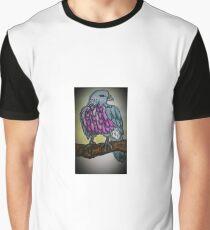 Pigeon vignette coloured illustration Graphic T-Shirt