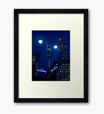 Lights on Broadway Framed Print
