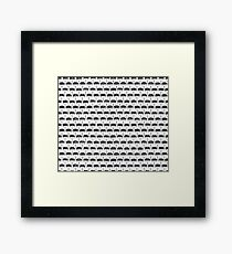 Infinite Typewriter_ Bg White Framed Print