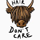 Long Hair Don't Care - the Highland Cow by Tiia Öhman