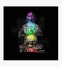 Matrix Chakra Man Photographic Print