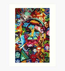 Bill Murray Junk Drawer Scavenger Hunt in Sharpie Marker Art Print