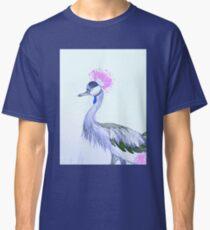 Grey Crowned Crane -Pink Classic T-Shirt