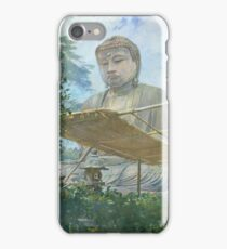 John La Farge - The Great Statue Of Amida Buddha At Kamakura, Known As The Daibutsu, From The Priests Garden iPhone Case/Skin