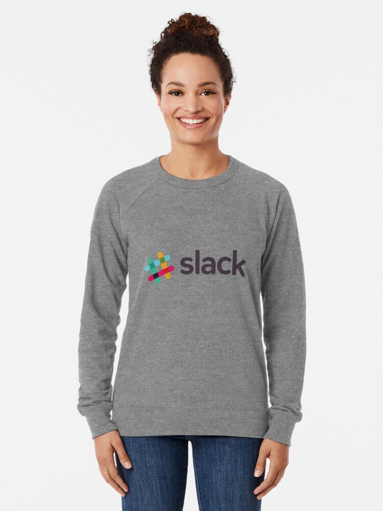 Alternate view of Slack with text Lightweight Sweatshirt
