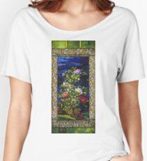 John La Farge - Window Peonies In The Wind Women's Relaxed Fit T-Shirt
