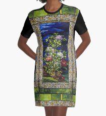 John La Farge - Window Peonies In The Wind Graphic T-Shirt Dress
