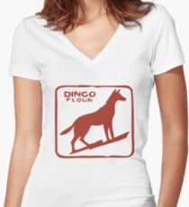 Dingo Flour Women's Fitted V-Neck T-Shirt