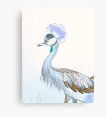 Grey Crowned Crane -Lilac Canvas Print