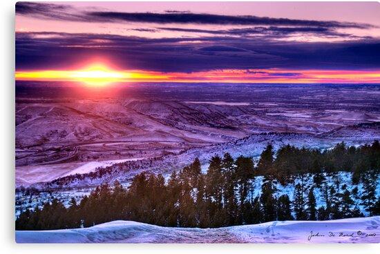 Winter's Rainbow Of Color by John  De Bord Photography
