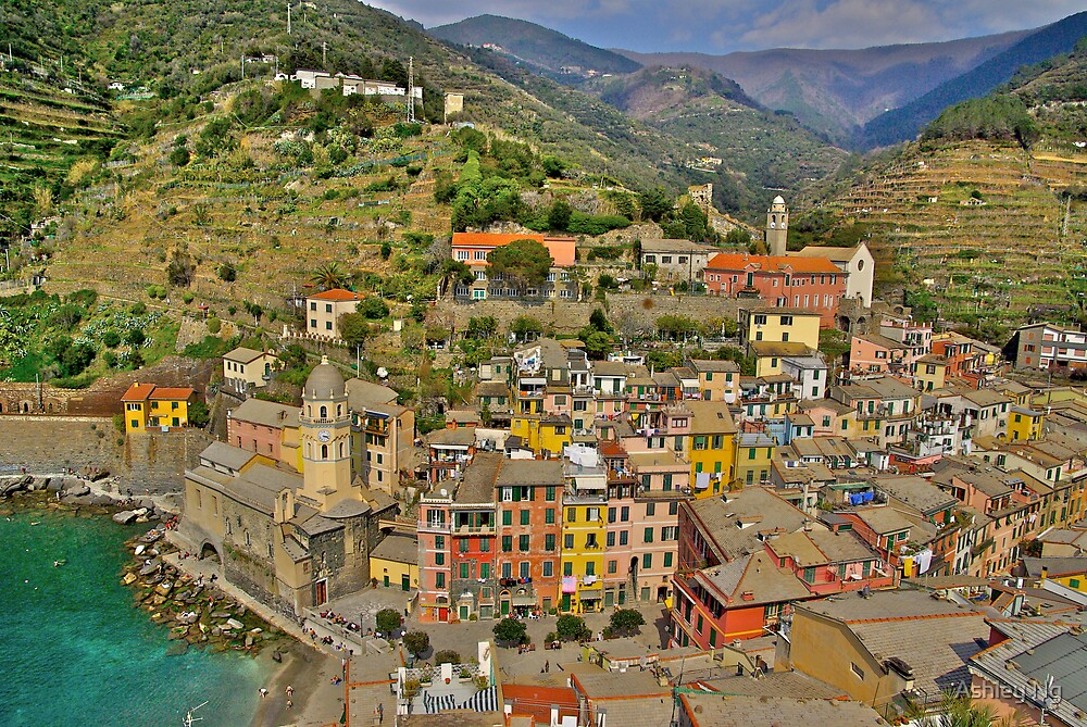 From the Tower of Vernazza (Cinque Terra) by Ashley Ng
