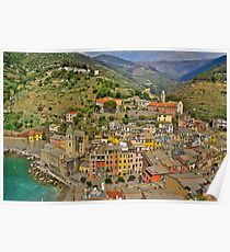 From the Tower of Vernazza (Cinque Terra) Poster