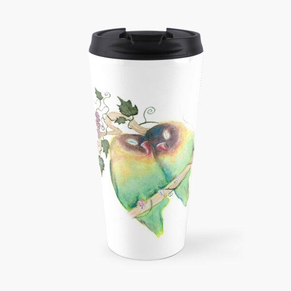 LOVE BIRDS WITH GRAPEVINE Travel Mug