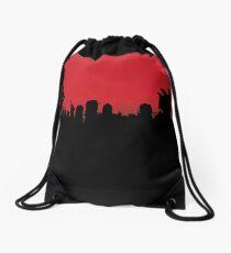 Mega City Skyline Drawstring Bag