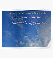 Quotes - Make it yours Poster