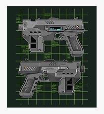 Lawgiver MKII Double Schematic Vector Photographic Print