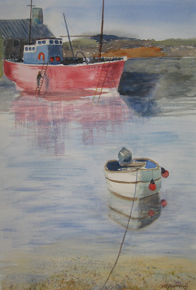red boat in Ireland by mjchampion