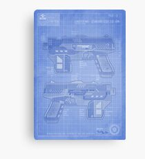 Lawgiver MKII Blueprint Canvas Print