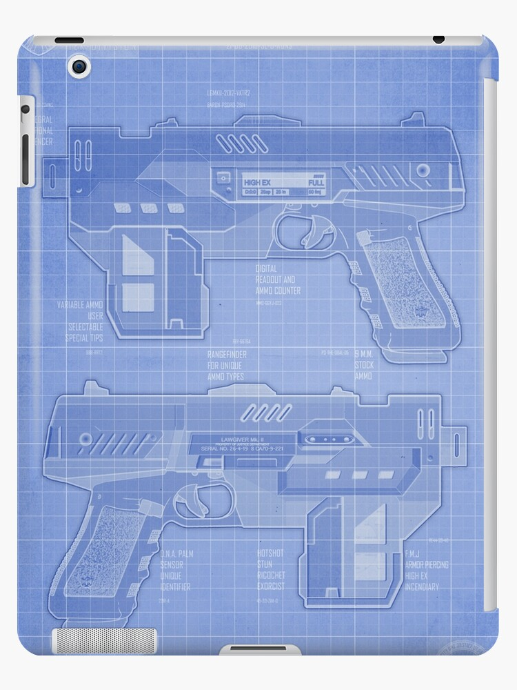 Lawgiver mkii blueprint ipad cases skins by strangelysaucy lawgiver mkii blueprint by strangelysaucy malvernweather Choice Image