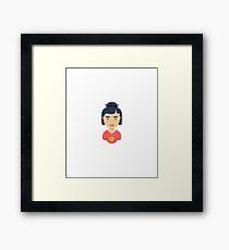 Cool Character Girl, Comic Framed Print