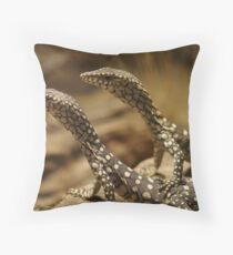 Brothers - Hatchling Perentie Monitors Throw Pillow