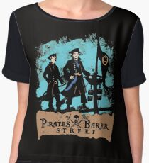 Pirates of the Baker Street. Sherlock and Watson. Chiffon Top