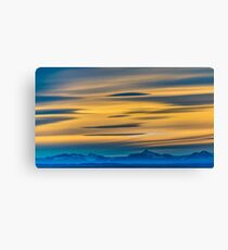 Patagonia Landscape Sunset Scene, Argentina Canvas Print